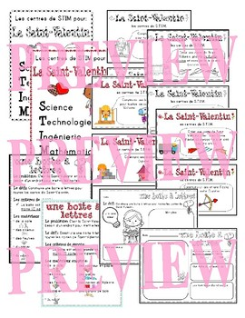 French STEM - Valentine's Day (STIM pour la Saint-Valentin)