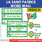 French Saint Patrick Word Wall: La Saint Patrick Word Wall & Word Mat