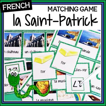 French Saint-Patrick's Day – Saint-Patrick - matching game