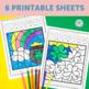 French Saint Patrick's Day Worksheets Color by Sound | La Saint-Patrick