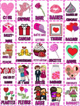 French: Saint Valentin Bingo