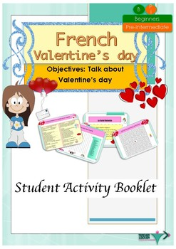 French Valentine's day, Saint Valentin booklet for beginners