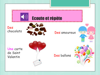 French Valentine's day, Saint Valentin : printable and interactive activities
