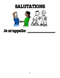 French Salutations Worksheets with Answer Keys