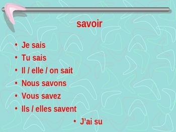 French - Savoir et connaitre