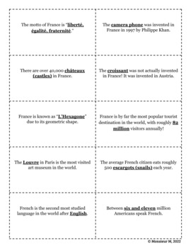 French Scavenger Hunt - Icebreaker (First Day of School) Activity