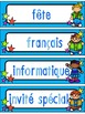 French Schedule Cards - Kids with Stars