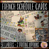 French Schedule Cards for Classroom Timetable (Horaire de classe/Menu du jour)