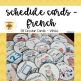 French Schedule Cards // horaire // plan du jour