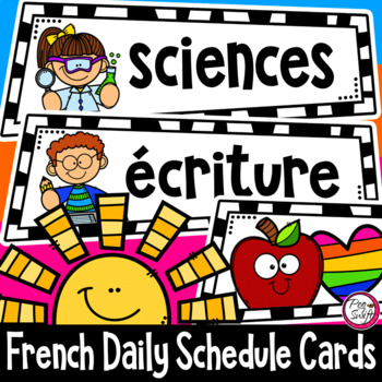 French Schedule & Routine Cards - Set 3