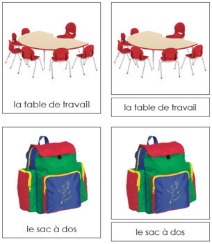 French - School Cards