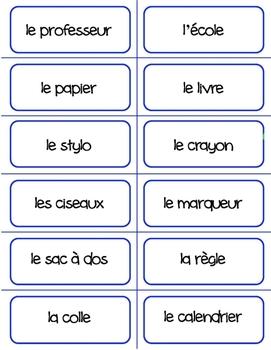 French - School Flashcards