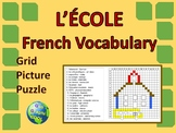 French School Grid Picture Puzzle