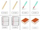 French School-L'École Vocabulary Pair Cards and Activities
