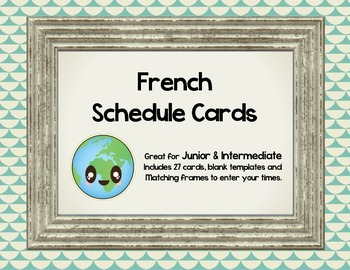 French School Schedule Cards - School Subjects/ L'Horaire