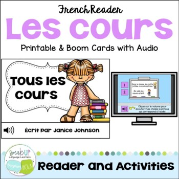 French School Subject Reader {les cours} & Vocabulary Pack ~ Simple Reader