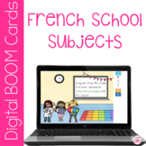 French School Subjects Digital Boom Cards for FSL classrooms