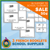 French School Supplies • 3 Reading & Writing Booklets • Ab