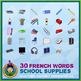 French School Supplies • Bingo Game • Circus Theme