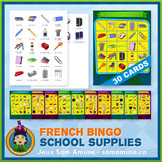 French School Supplies • Bingo Game • Circus Theme