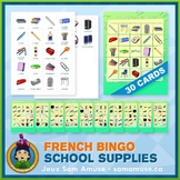 French School Supplies • Bingo Game • Abstract Theme