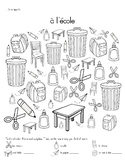 French School Supplies/Classroom Objects Activities - rent
