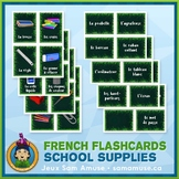 French School Supplies Flash Cards • 3 styles included • J