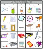 Bingo Bundle: French School Supplies Flash Cards and Bingo Cards