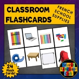 French School Supplies Flashcards, Les fournitures scolaires