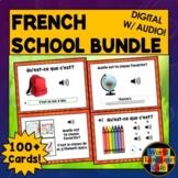 French School Supplies, French Boom Cards, Digital Flashca