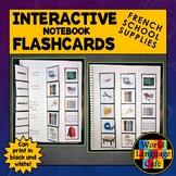 French School Supplies Flashcards, Interactive Notebook Fl