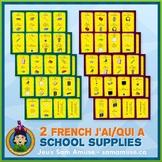 French School Supplies J'ai/Qui a Games • 2 decks of cards