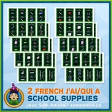 French School Supplies J'ai/Qui a Games • 2 decks of cards