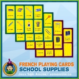 French School Supplies Playing Cards • Card Game • Circus Theme