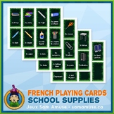 French School Supplies Playing Cards • Card Game • Jungle Theme