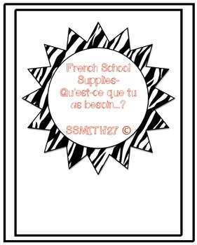 Les Fournitures Scolaires : French School Supplies