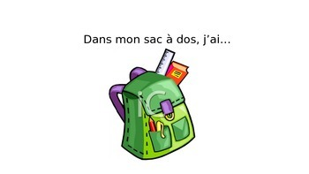 French School Supply Vocabulary PowerPoint
