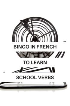 French School Verbs Bingo