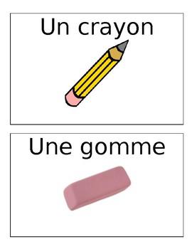 French School Vocab Flashcards