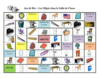 French School Vocabulary Board Game
