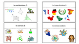 French School subject Vocab Foldables