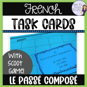 French passé composé Scoot game and task cards CARTES À TÂCHES