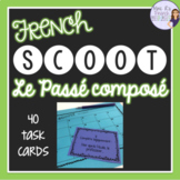French passé composé Scoot game and task cards CARTES À TÂCHES