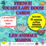 French Sea animals vocabulary unit - 10 activities and games with Boom cards