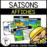 French Season Word Wall Cards/ Saisons - Affiches