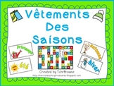 French Seasonal Clothing File Folder Game