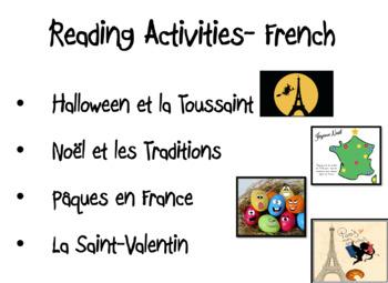 French Seasonal Resources BUNDLE- Reading Activities