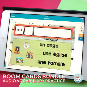 Automne, hiver & other themes | French Seasonal Words Audio | French BOOM Cards