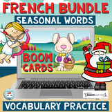 French BOOM CARDS Distance Learning French Seasonal Vocabu