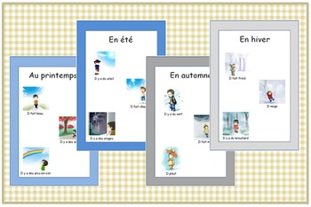 French Seasons and Weather Posters-School Display Resources